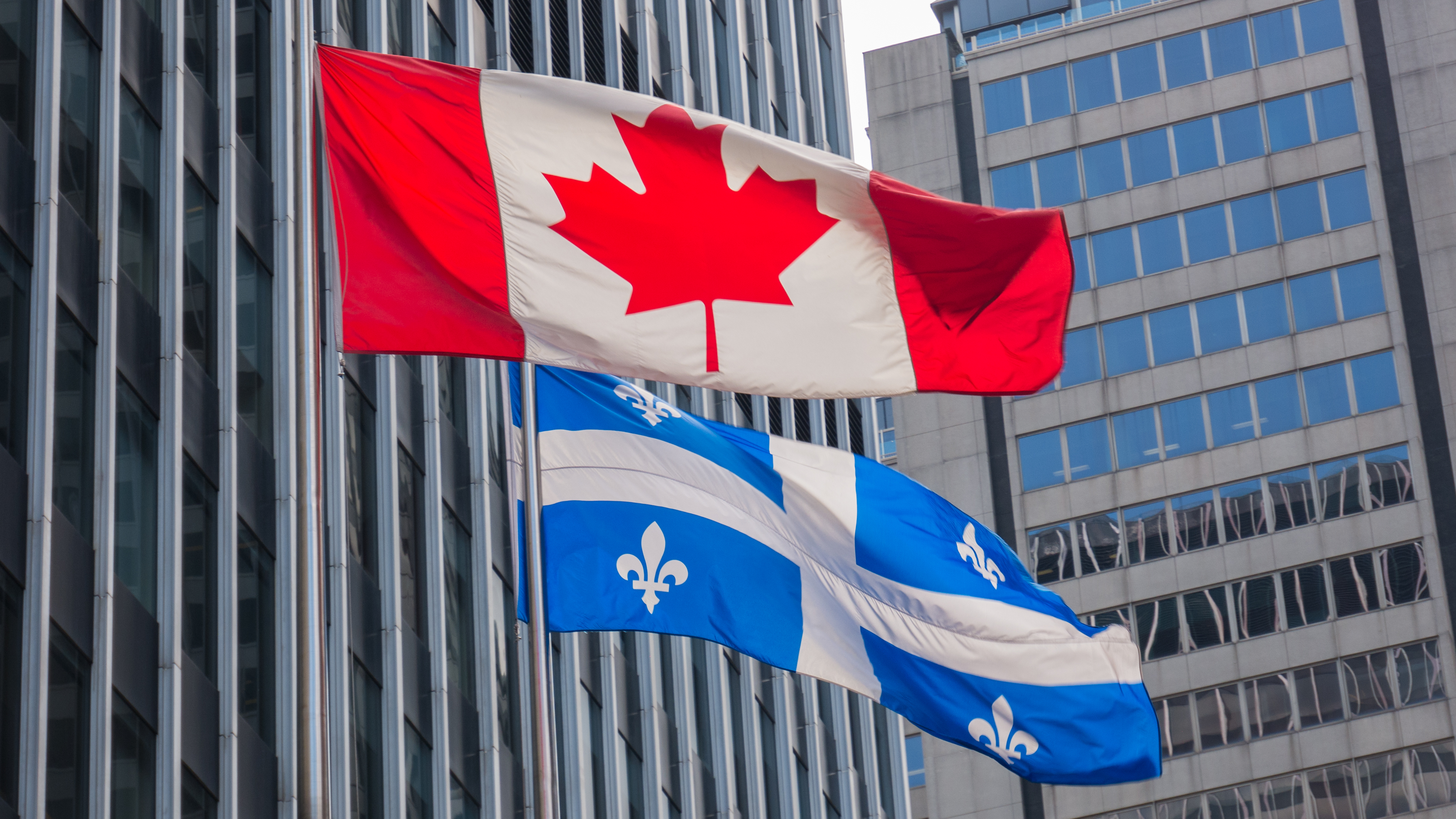 Canada and Quebec Flags 2